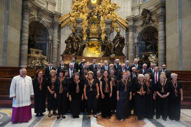 le Choeur Mixte à St Pierre de Rome 2013