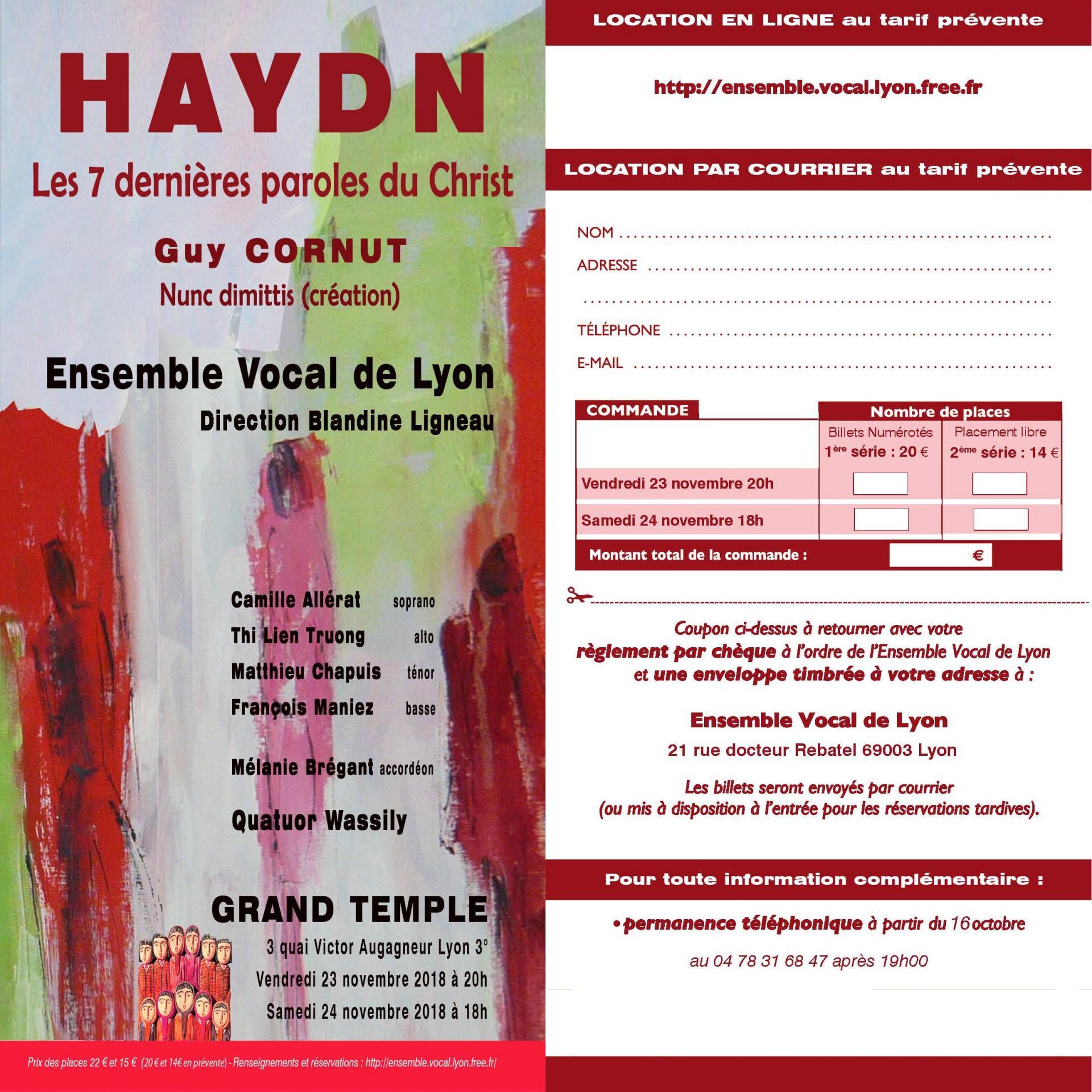 Flyer haydn recto verso
